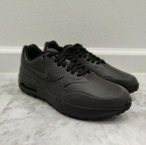 Nike Air Max 1 Golf Shoes Triple Black Reflective